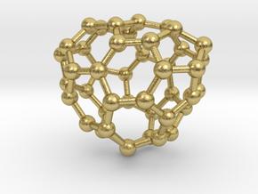 0654 Fullerene c44-26 c1 in Natural Brass