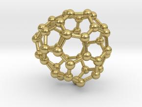 0658 Fullerene c44-30 c1 in Natural Brass