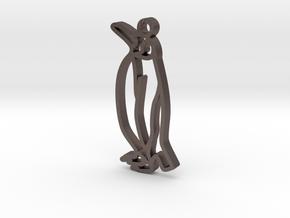 KingPenguin in Polished Bronzed-Silver Steel