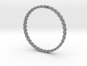 Spirală Bangle in Gray PA12: Small