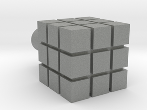 Rubik's Cube For Lego Characters in Gray Professional Plastic