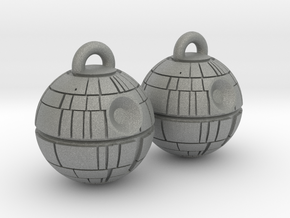 Death Star Earrings in Gray Professional Plastic
