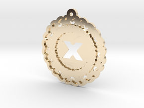 Magic Letter X Pendant in 14K Yellow Gold