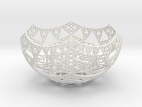 Fractal Tealight Holder in White Natural Versatile Plastic