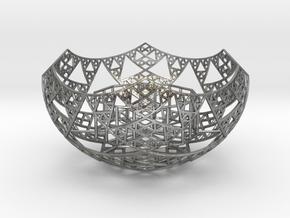 Fractal Tealight Holder in Natural Silver