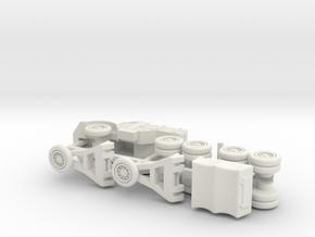 German Porsche 142 Tank Transporter 1/120 TT in White Natural Versatile Plastic