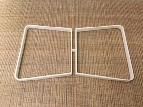 1:12 Table legs - Trapeze (pair) in White Processed Versatile Plastic
