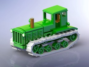 Russian STZ-3 Tractor 1/120 TT in Smooth Fine Detail Plastic