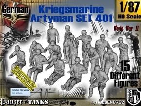 1/87 Kriegsmarine Artyman Set401 in Smooth Fine Detail Plastic
