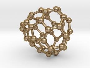 0660 Fullerene c44-32 c1 in Polished Gold Steel
