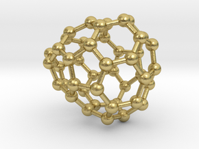 0660 Fullerene c44-32 c1 in Natural Brass