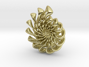 Ammonite Pendant in 18k Gold Plated Brass