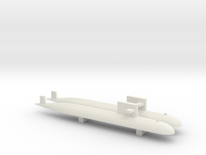 PLA[N] 093 Submarine x2, 1/1800 in White Natural Versatile Plastic