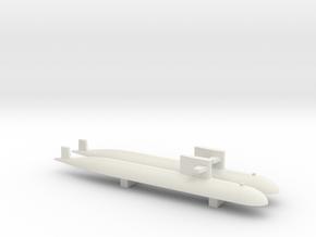 PLA[N] 093 Submarine x2, 1/1800 in White Natural Versatile Plastic