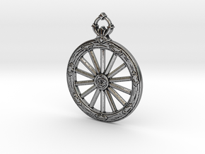 Wheel Hunter Badge in Antique Silver