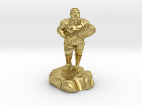 hill dwarf with greatclub in Natural Brass