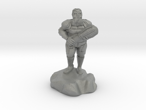 hill dwarf with greatclub in Gray Professional Plastic