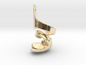 DTKAFO charm with foot piece in 14k Gold Plated Brass: 6mm