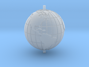 "World 1.25"" (Globe) in Smooth Fine Detail Plastic"