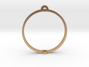 """World 1.25"""" (Ring) in Natural Bronze"""