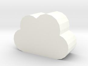 cloud in White Processed Versatile Plastic