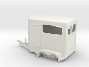 1030 Horse Trailer HO in White Natural Versatile Plastic: 1:87 - HO