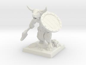 minotaur_miniature in White Natural Versatile Plastic