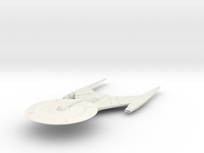 """Federation USS Discovery V4 5.2"""" long in White Natural Versatile Plastic"""
