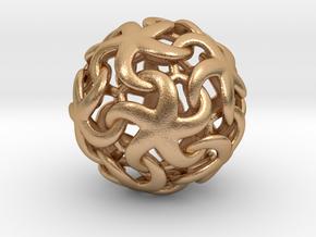 Asteroidea Pendant - Starfish Sphere in Natural Bronze: Small