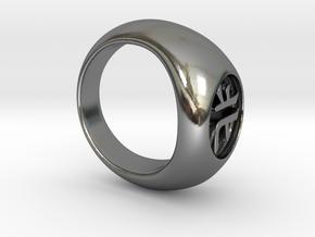 Akatsuki Ring - Kakuzu / North in Polished Silver: 6 / 51.5