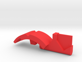 Warthog  Throttle part center geometric in Red Processed Versatile Plastic