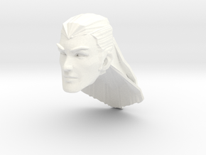 human head male long hair in White Processed Versatile Plastic