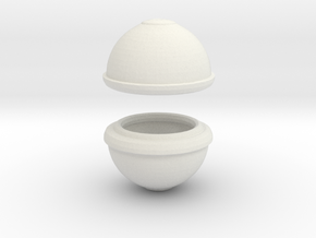 Printle Thing Egg 01 in White Natural Versatile Plastic