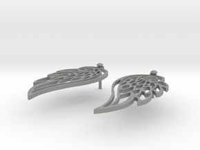 Wing earrings in Gray Professional Plastic