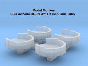 1/700 USS Arizona BB-39 Aft 1.1 inch Gun Tubs in Smoothest Fine Detail Plastic