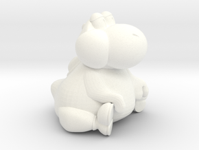 Fat Yoshi (Super Mario RPG) in White Processed Versatile Plastic: Small