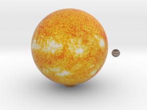 The Sun & Jupiter to scale in Full Color Sandstone