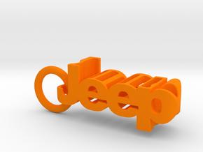 Jeep Wrangler JL Keychain in Orange Processed Versatile Plastic