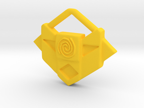 Atlantis Amulet in Yellow Processed Versatile Plastic