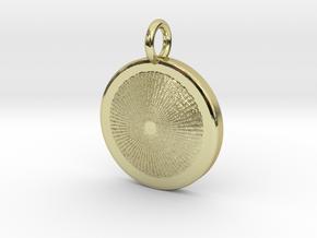 Heart of the Sun pendant in 18k Gold Plated Brass: Medium