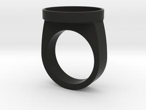 Custom ring 76 US 10 v2 in Black Premium Versatile Plastic