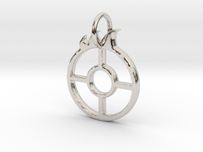 Urnfield Solar Wagon Wheel in Rhodium Plated Brass