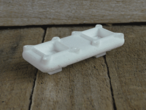 Tunnel Ram top deck (Dual Carburetor). in White Natural Versatile Plastic