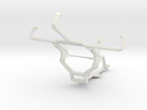 Controller mount for Steam & Alcatel Pixi 3 (3.5)  in White Natural Versatile Plastic