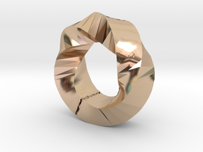 Rotary ring in 14k Rose Gold Plated Brass