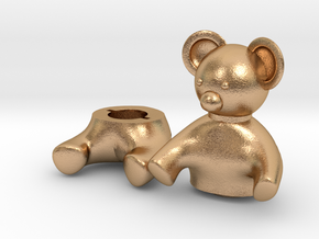 Small Teddy bear Box in Natural Bronze