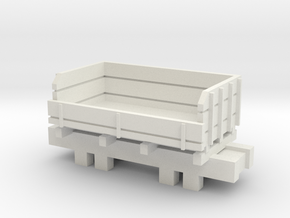 00 Scale Ballast Truck in White Natural Versatile Plastic