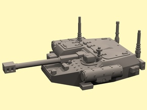 28mm IFV unmanned turret auto cannon in White Processed Versatile Plastic