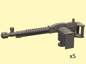 28mm heavy machinegun 10% bigger (5) in Smooth Fine Detail Plastic
