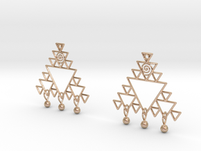 Fractal Earrings in 14k Rose Gold Plated Brass